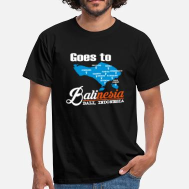 Backpacker Jokes goes to balinesia - Men's T-Shirt