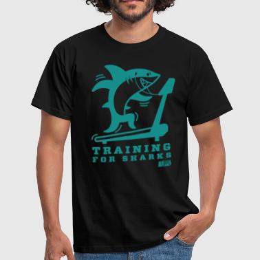 Animal Planet Gym Humour Training For Sharks - Men's T-Shirt
