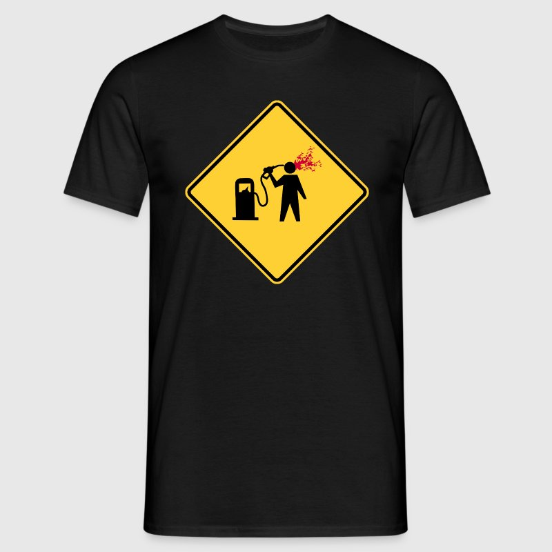 Danger: petrol station - Men's T-Shirt