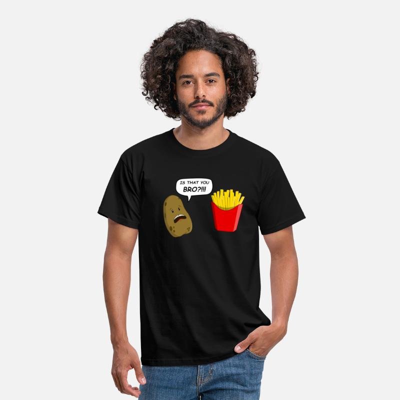 Rolig T-shirts - potato - T-shirt herr svart