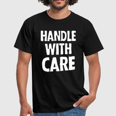 Handle with care (dark) - Männer T-Shirt