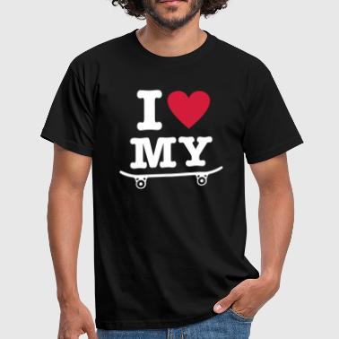 Skateboard - I love my skateboard - I heart my skateboard - Men's T-Shirt