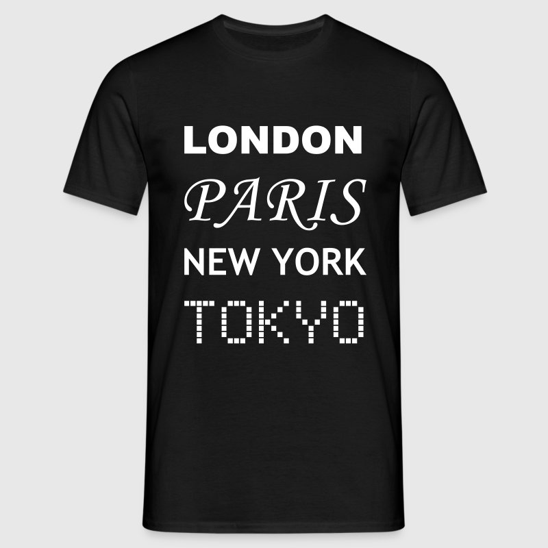 London, Paris, New York, Tokyo - Men's T-Shirt