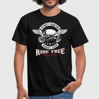 streetfighter Ride Free - Mannen T-shirt