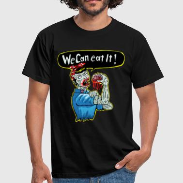 we can eat it fini - T-shirt Homme