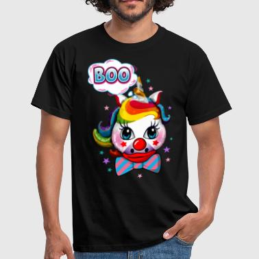 Clown-Einhorn Halloween Cute Unicorn Joker Make-up dunkel - Männer T-Shirt
