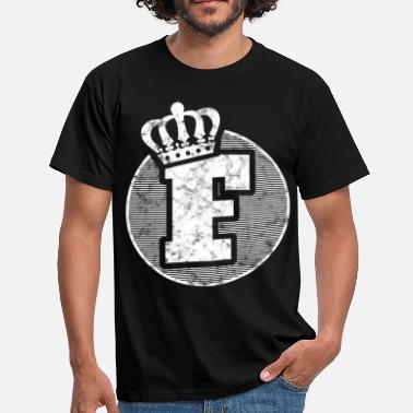 Letters Crown Stylish letter F with crown - Men's T-Shirt