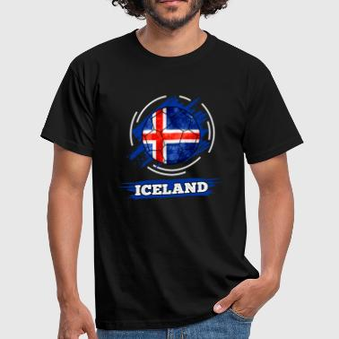 Flag Of Iceland Country Flag Iceland / Iceland - Men's T-Shirt