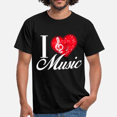 I Love Music I Love Music / Music - Men's T-Shirt