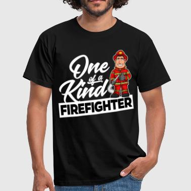 Proud Firefighter - One of a kind - Men's T-Shirt