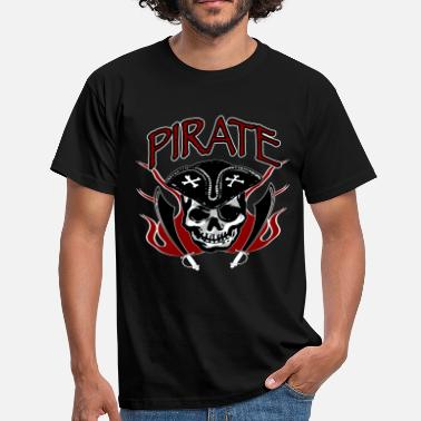 Eye Patch Pirate head with eye patch - Men's T-Shirt