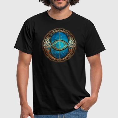 Vesica Piscis, Chalice Well, Sacred Geometry space - Men's T-Shirt