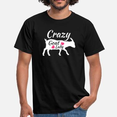 Crazy Crazy Goat Lady, Gift for Goat Lover, Raising Goats - Mannen T-shirt