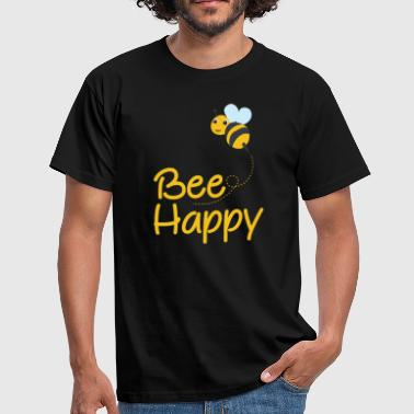 For Bee Lovers Bee Happy, Bumble Bee, Bee Lover, Bumble Bee Gift - Men's T-Shirt