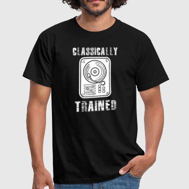Turntable Classically Trained DJ Shirt, Vinyl Record Shirt, Vintage Record Shirt, DJ Shirt, Record Collect T - Men's T-Shirt