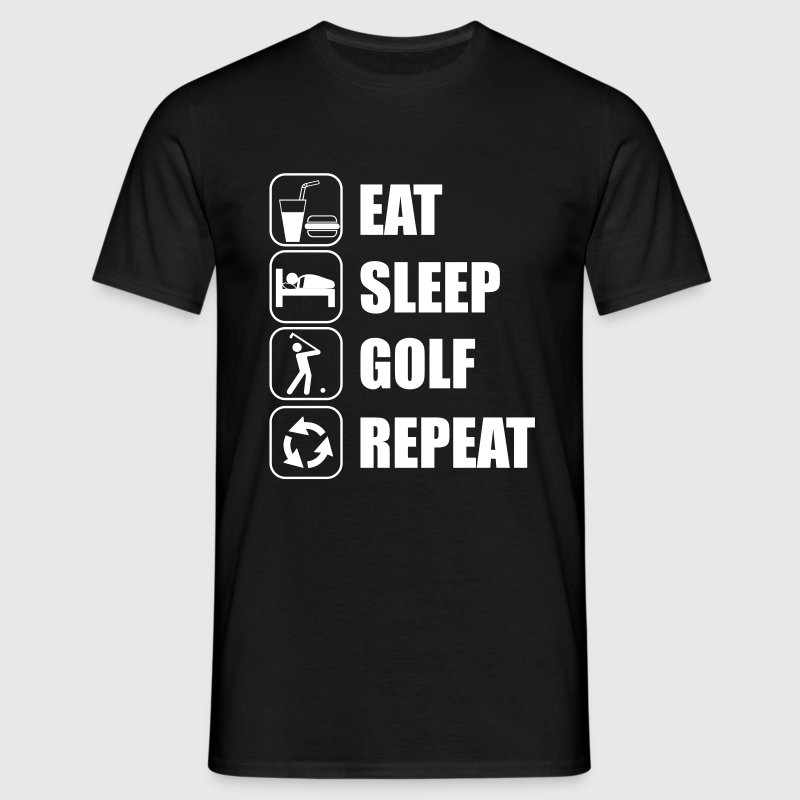 Eat Sleep Golf Repeat - Men's T-Shirt