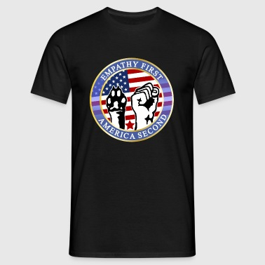 EMPATHY FIRST AMERICA SECOND - Männer T-Shirt