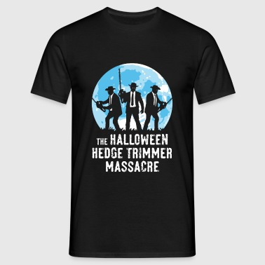 The Halloween Hedge Trimmer Massacre (PNG) - Männer T-Shirt