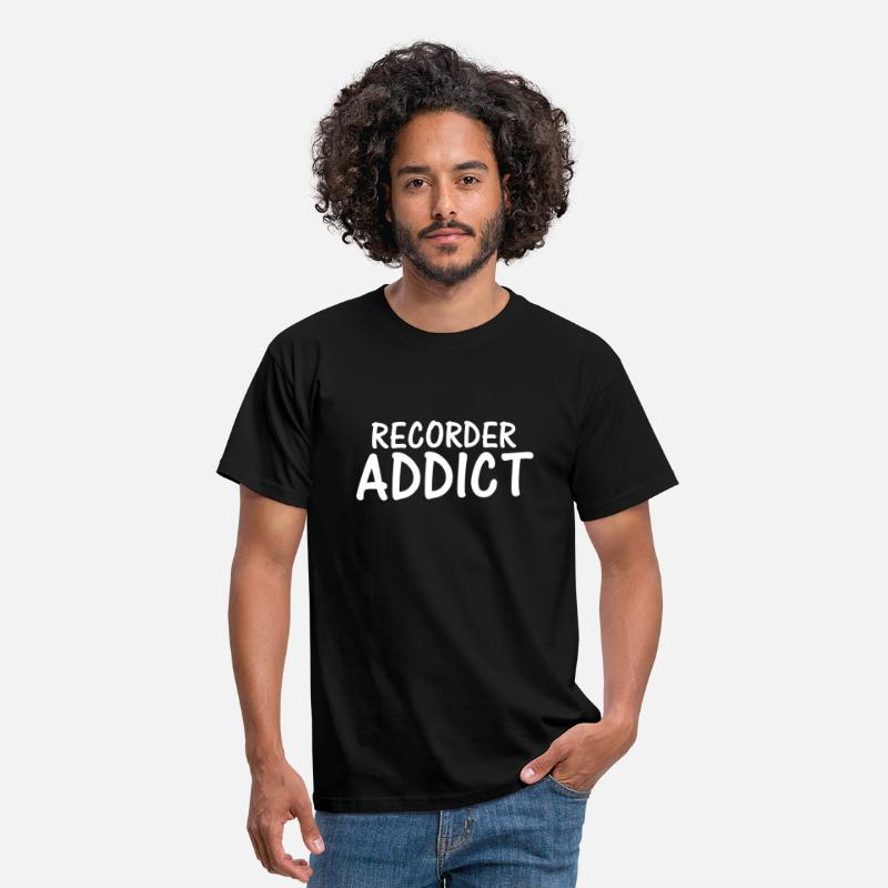 Addicted T-Shirts - recorder addict - Men's T-Shirt black
