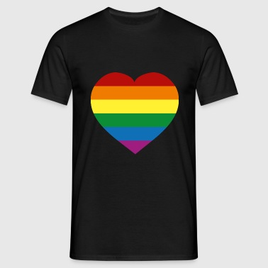Rainbow Flag :) - Mannen T-shirt