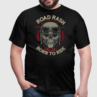 SSD Road Rash Motorcycle Biker born to ride RAHMENLOS Design red old dark - Männer T-Shirt