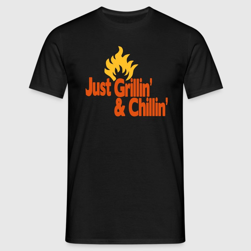 just grillin' and chillin' / just grilling and chilling 2c - Mannen T-shirt