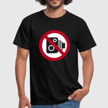 No Speed Cameras Sign - Men's T-Shirt