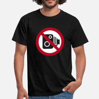 Speed Sign No Speed Cameras Sign - Men's T-Shirt