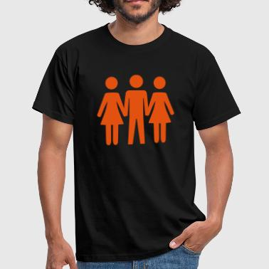 Threesome - Men's T-Shirt