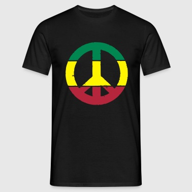 Peace and love rasta - T-shirt Homme