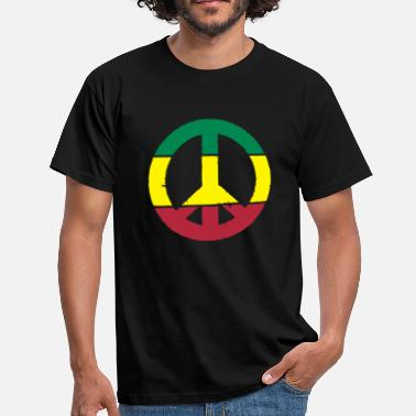 Peace-and-love-rasta Peace and love rasta - T-shirt Homme