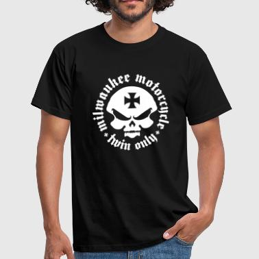 Milwaukee motorcycle twin only for biker - Men's T-Shirt