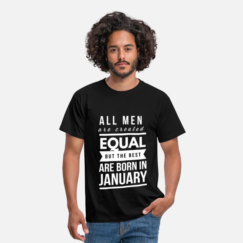 Equal T-Shirts - January birthday design for men and boys - Men's T-Shirt black