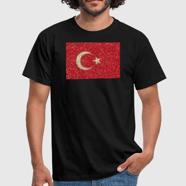 Glitz Turkey flag flag glitz home country turkish - Men's T-Shirt