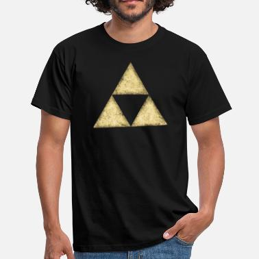 Spirituality Physics Swag Triforce, Triangle, Triforce, Math, Geometry - Men's T-Shirt