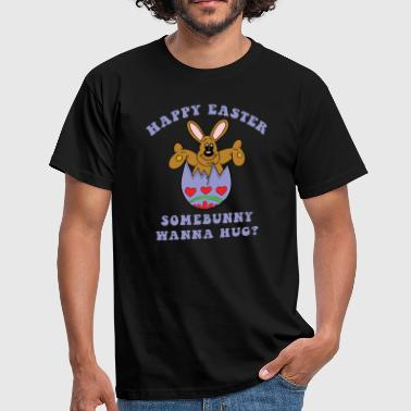 Happy Easter Somebunny wil een knuffel - Mannen T-shirt