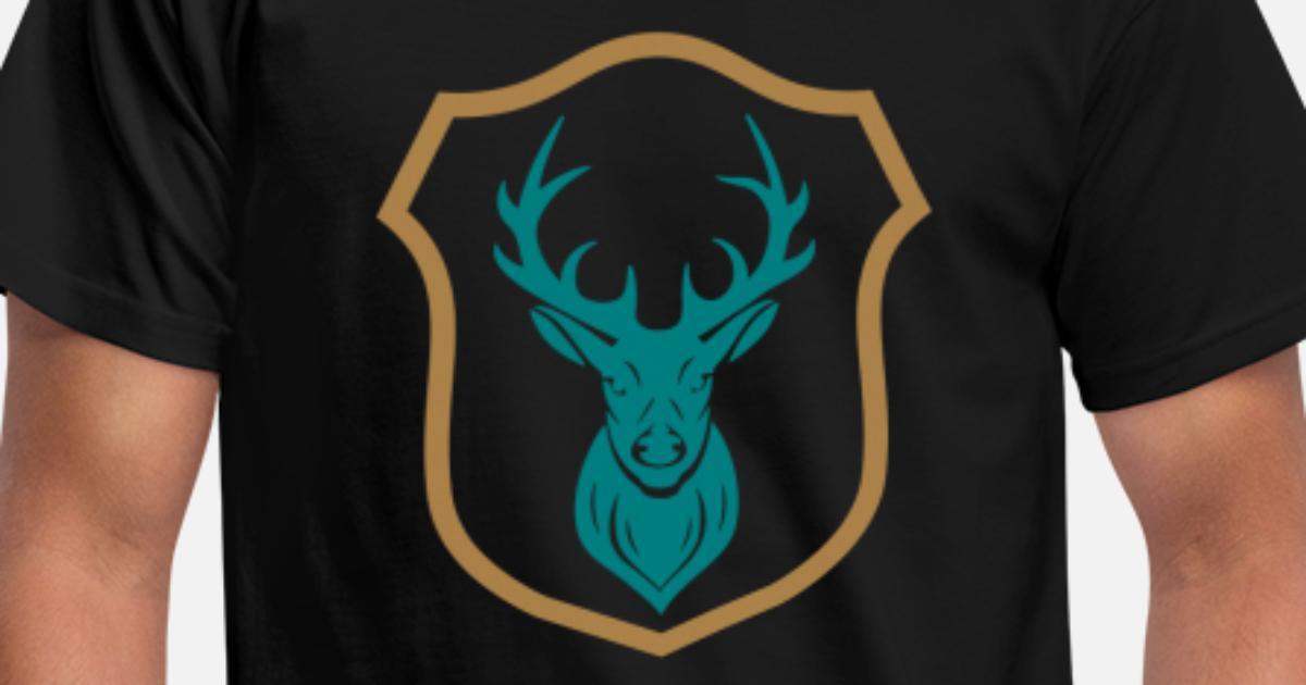 logo wappen hirsch geweih m228nner tshirt spreadshirt