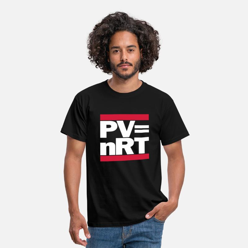 Chemistry T-Shirts - Hip-Hop-style: PV = nRT (ideal gas equation) - Men's T-Shirt black