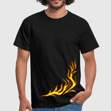 Fuoco, Flame / T-shirt, Motiv 2, Fire, digital, yellow, red - Maglietta da uomo