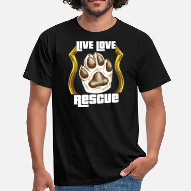 Rescue Dog Dog animal rescue dogs rescue shelter gift - Men's T-Shirt
