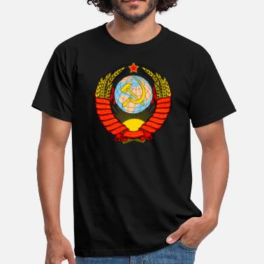 Lenin Coat of arms Soviet - Men's T-Shirt