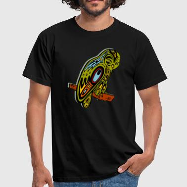 Indianer Tattoo Tribal Owl Animal Indian Native American Nature - Herre-T-shirt