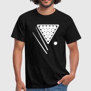 Snooker Rack and Cues - Men's T-Shirt