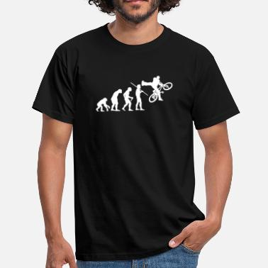 Bmx Evolution of Man - BMX - Men's T-Shirt