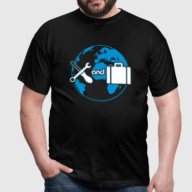 Work and Travel 2-Farbig - Männer T-Shirt