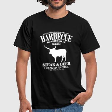 Barbecue - Steak & Beer - Männer T-Shirt
