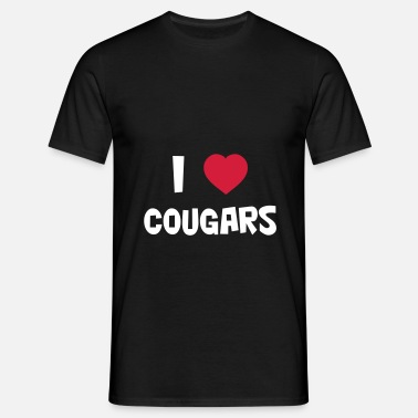 Cougar Slut I Love Cougars - Men's T-Shirt