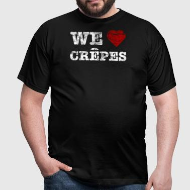 We love Crepes vintage light - Männer T-Shirt