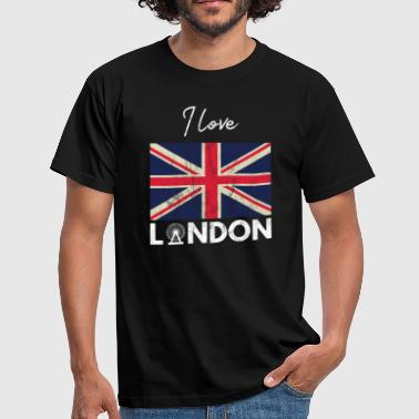 J'adore Londres - City Break - Gift Union Jack - T-shirt Homme