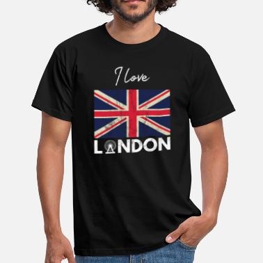 London Souvenir I Love London - City Break - Gift Union Jack - Men's T-Shirt